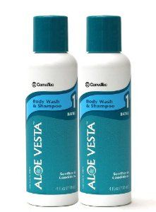 Aloe Vesta® Body Wash & Shampoo, 4 oz Bottle - Pack of 2 by ConvaTec. $12.99. A mild solution that gently cleanses without irritating or drying skin. It may be used for routine tub and shower bathing, or for no-rinse bathing and shampooing.Aloe Vesta® Body Wash & Shampoo is gentle and soothing to fragile, dry skin. It is specially formulated to leave skin and hair smelling clean and fresh. It not only cleanses effectively, it also moisturizes the skin. It may be used for rou...