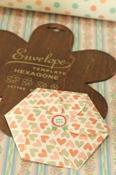 Enveloppenmal Hexagone - Postpapier enzo