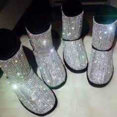 Swarovski bling uggs Brand new custom made. I have few boots in stock and all other custom orders takes 3-4 days to finish. Bling sequin swarovski crystal uggs australia. 380$ thru p a yp UGG Shoes Ankle Boots  Booties