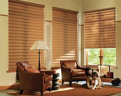 Hunter Douglas Roman Shade - Vignette - Living room ideas - these modern roman shades are inside mounted in large windows & provide the ability to open & close for sun, view or privacy, & provide thermal protection from the hot & cold. There are many insulating shades from Hunter Douglas. Visit our Denver showroom, touch & operate the window shades on display & talk to a Certified Interior Designer about your next window treatment design project. Custom curtains, bedding & drapery hardware.