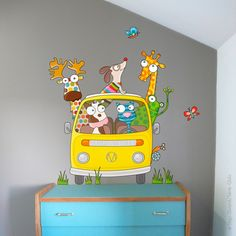 Sticker Let's go, baby and child bedroom decoration - Série-Golo