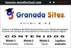 curso #elearning  gratuito de diseño de #logotipos  por Granada Sites. Realizado bajo la plataforma #moodle. Puedes acceder como invitado o pídenos tus datos de acceso. Granada, Modulo 2, Thing 1, Shopping, Logos Design, Wedge, Bass, Grenada