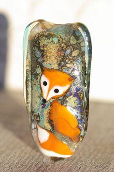 RESERVED FOR BIRGIT Handmade lampwork glass bead, focal bead, lampwork pendant…
