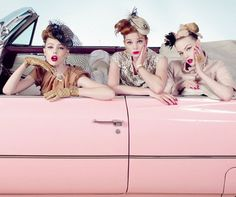 going riding in a pink cadillac