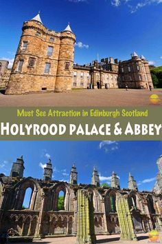 Holyrood Palace Abbey Edinburgh Scotland Pinterest #whattodoinedinburgh #Scotland #Edinburgh #HolyroodPalace #PalaceofHolyrood #mustseeinEdinburgh #visitEdinburgh #abbeyruins #royalpalaceScotland