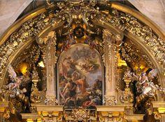Detalle del retablo del altar de la Iglesia de San Esteban de Salamanca, España, de José Benito de Churriguera (1665-1725) (estilo barroco español)