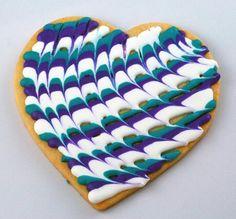 Big heart tie dye cookie