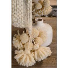 Plaid laine brun 1 2 ton en haute laine pyr n enne finition galon cru autr - Www jardindulysse com ...