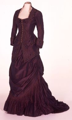 Deep Purple Embroidered Coat and Skirt