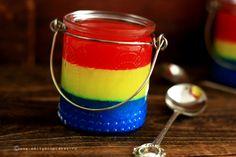 Iubesc Romania! I love Romania! strawberry jelly, vanilla pudding and blueberry panna cotta | by @Emily LoveCupcakes
