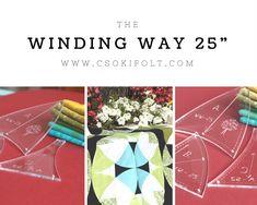 Winding ways- 25 cm - Csokifolt Patchwork Sablonok Templates, Inspiration, Scrappy Quilts, Biblical Inspiration, Stencils, Vorlage, Models, Inspirational, Inhalation