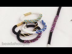 BeadsFriends: make Russian Spiral - Twisted russian spiral - YouTube
