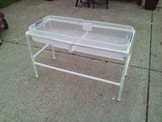 DIY Water/sand/shaving cream/dirt table!!!