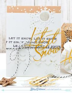 Let It Snow Card by Betsy Veldman for Papertrey Ink (September 2015)