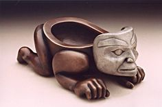Nisga'a carvers Norman Tait and Lucinda Turner; Northwest Coast Native Art.
