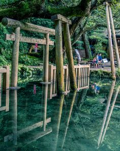 御手洗(みたらし)池。 1日に40万リットル以上の湧水があり、神話の時代に一晩で湧き、以来、干ばつがあっても枯れたことが無いという奇跡の池として伝説がある癒しや清めのパワースポットです。 Beautiful Places In Japan, Beautiful Places To Visit, Beautiful World, Places To Travel, Places To Go, Aesthetic Japan, Japanese Architecture, Anime Scenery, Great View