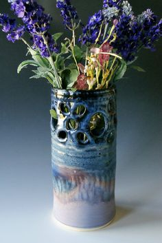 Vase / Handmade WheelThrown Ceramic Pottery/ by riverstonepottery, $60.00