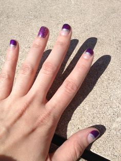 Purple and silver sparkle!