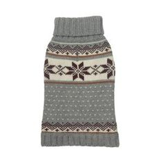 Fabdog Snowflake Fairisle Turtleneck Sweater for Dogs