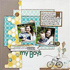 My Boys by Aphra Boyler for The Scrap Room (sketch challenge LO)