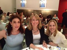 Chefwear Founder Rochelle Huppin with Emily Luchetti and Carmen Gonzales at the Women's Culinary Dinner in NYC!