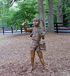 Suwanee Butterfly Girl, Sims Lake Park (Suwanee Dam Road) by  Cumming, GA artist Gregory Johnson. #sculpture