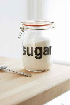 Sugar Glass Canister - Urban Outfitters