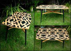 Nagy retro dohányzóasztal / Big mid-century coffee table Mosaic Design, Mid Century Coffee Table, Mosaic Projects, Diy Furniture, Big, Image, Handmade Furniture, Mosaic Designs