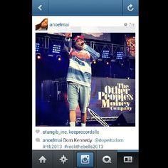 overtimegrind:  @anoelmai instagram photo of Dom Kennedy (@dopeitsdom) at #RockTheBells2013 #OTG