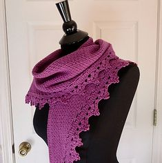 Beautiful triangular shawl to wear as a scarf, cowl or as a traditional shawl. Written with DK yarn but you should be able to use whatever yarn you like. Heavier yarn will yield a larger shawl, thinner yarn will yield a smaller shawlette.