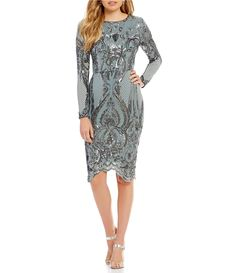 Shop for Betsy & Adam Long Sleeve Sequin Midi Dress at Dillards.com. Visit Dillards.com to find clothing, accessories, shoes, cosmetics & more. The Style of Your Life.
