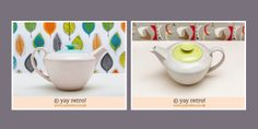 Streamline shaped Poole Pottery teapots for sale right now :O) Adorable!
