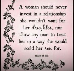 Excellent relationship advice. True stuff