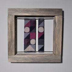 Hand needlepointed framed art NO 1 by Kasia Urban Rybska