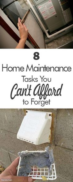 8 Home Maintenance Tasks You Can't Afford to Forget 101 Days of Organizati - How To Buy A Home? Ideas of How To Buy A Home. - 8 Home Maintenance Tasks You Can't Afford to Forget 101 Days of Organization Diy Organizer, Tips And Tricks, Home Improvement Projects, Home Projects, Home Improvements, Cast Of Home Improvement, Home Renovation, Home Design, Interior Design