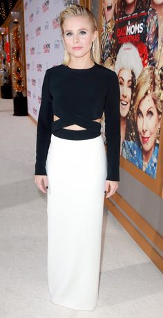 """Kristen Bell in Michael Kors attends the """"A Bad Moms Christmas"""" premiere in L.A. #bestdressed"""