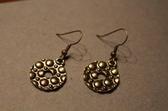 Circles of Circles Antique Pewte0 Earrings by APromisedHope on Etsy