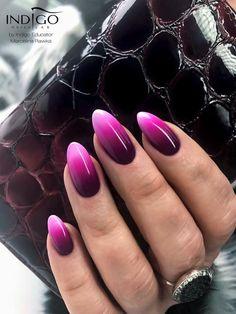 Ombre by Indigo Educator Marcelina Rawka Kielce #nails #nail #ombre #pink #indigo #indigonails #nailarts #sexy