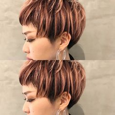 Dope Hairstyles, My Hairstyle, Californian Hair, Short Hair Cuts, Short Hair Styles, Hear Style, Platinum Pixie, Beautiful Hair Color, Short Fringe