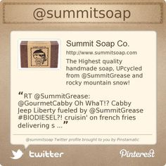 Summit Soap Co. is on Twitter @summitsoap's Twitter profile courtesy of @Pinstamatic (http://pinstamatic.com)