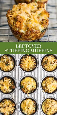 Thanksgiving Leftover Stuffing Muffins are made in minutes with leftover stuffing and turkey for a tasty breakfast or snack that you can dip in cranberry sauce or gravy! Thanksgiving Dinner For Two, Stuffing Recipes For Thanksgiving, Thanksgiving Appetizers, Turkey Stuffing, Turkey Gravy, Holiday Recipes, Stuffing Muffins, Instant Pot, Dinner Ideas