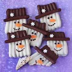 Snowman Pretzel Craft
