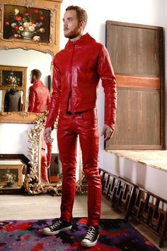 Builtforman.com Our take on young Santa Built For Man Red Leather Suit