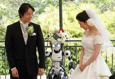 Oddball weddings: A humanoid robot acts as a witness at a wedding ceremony in Tokyo