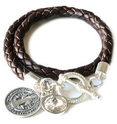 gina cangin | Double Wrap Saint Benedict Charm Bracelet by blessedbyamanda, $50.00