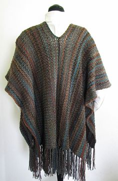 PDF Crochet Pattern Indian Summer Ruana Wrap by BellaCrochet