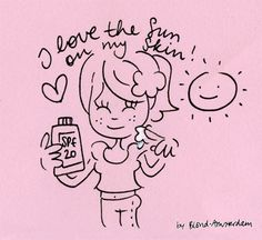 I love the sun on my skin - Made with love by Blond-Amsterdam