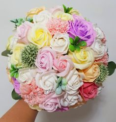 Buchet cu flori de săpun Floral Wreath, Wreaths, Floral Crown, Door Wreaths, Deco Mesh Wreaths, Floral Arrangements, Garlands, Flower Crowns, Flower Band