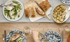 Feasting: Picnic food doesn't have to be all limp sandwiches: look to a 1970s classic for a portable and moreish mouthful, served with potato salad and sugar snaps