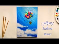 Paint with me: Flying balloon house - YouTube